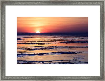 Framed Print featuring the photograph Icy Sunrise by Jennifer Casey