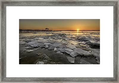 Icy Sunrise Framed Print