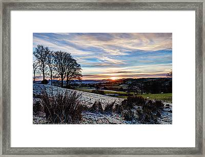 Icy Sunset Framed Print