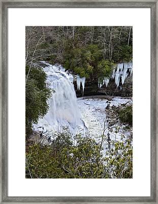 Icy Waterfall Framed Print by Susan Leggett