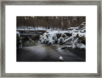 Icy Waters Framed Print by Andrew Pacheco