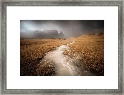 Icy Ways Framed Print