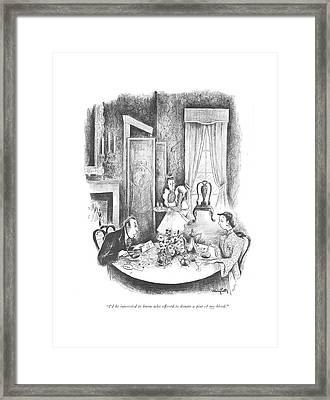 I'd Be Interested To Know Who Offered To Donate Framed Print by Mary Petty