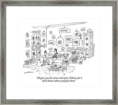 I'd Give You The Moon And Stars Framed Print by Michael Maslin