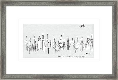 I'd Hate To Land Here On A Foggy Day Framed Print by  Alain