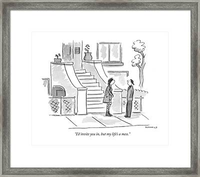 I'd Invite Framed Print by Liza Donnelly