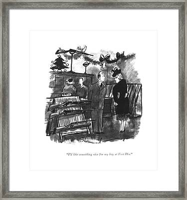 I'd Like Something Nice For My Boy At Fort Dix Framed Print