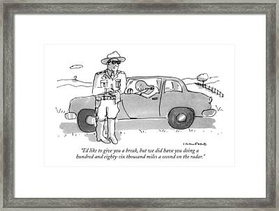 I'd Like To Give You A Break Framed Print by Michael Crawford