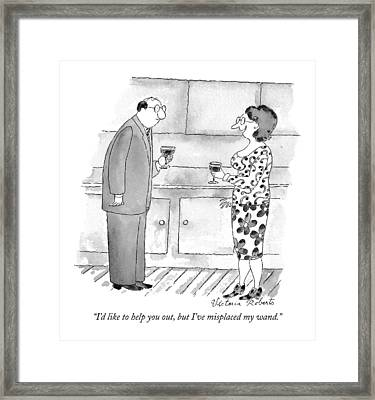 I'd Like To Help Framed Print by Victoria Roberts