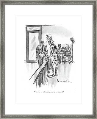 I'd Like To Take Out A Patent On Myself Framed Print