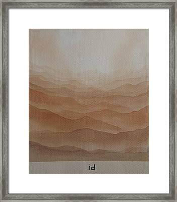 Framed Print featuring the painting id by Richard Faulkner