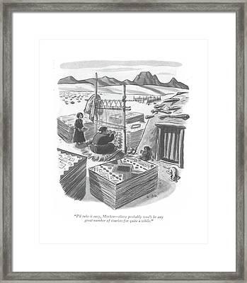 I'd Take It Easy Framed Print by Robert J. Day