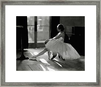 Ida Rubinstein Wearing A Tutu Framed Print by Phyllis Abbe