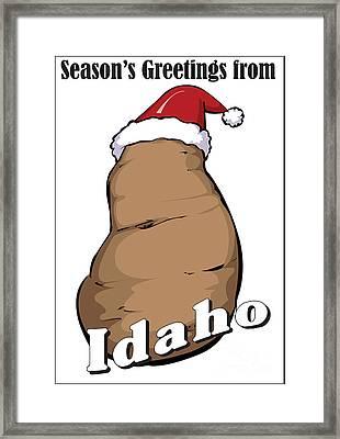 Idaho Christmas Framed Print