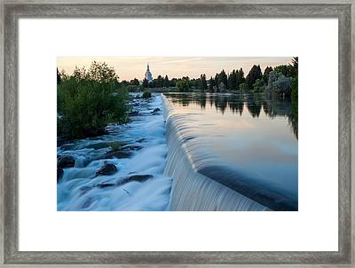 Idaho Falls Sunset Framed Print