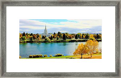 Framed Print featuring the photograph Idaho Falls Temple by Benjamin Yeager