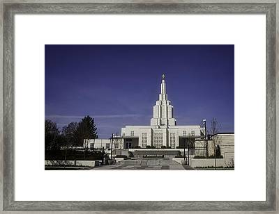 Idaho Falls Temple Framed Print by Image Takers Photography LLC - Carol Haddon