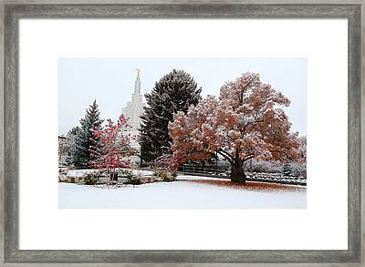 Idaho Falls Temple Winter Framed Print