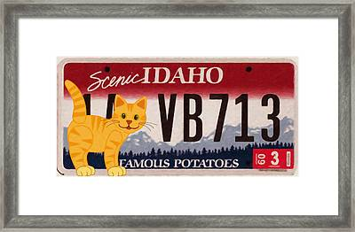 Idaho License Plate Framed Print by Lanjee Chee