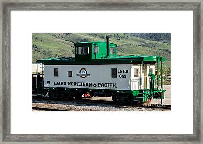 Idaho Northern And Pacific Railroad Caboose Framed Print