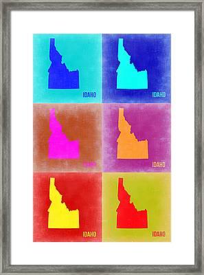 Idaho Pop Art Map 2 Framed Print