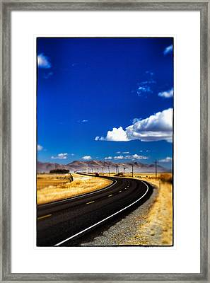 Idaho Road Titl Shift Framed Print by For Ninety One Days