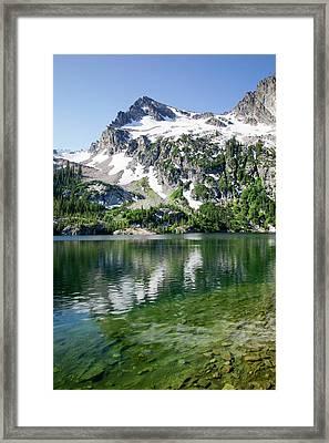 Idaho, Sawtooth Wilderness, Alpine Lake Framed Print