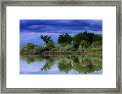 Idaho Snake River Reflection Framed Print by Paddrick Mackin