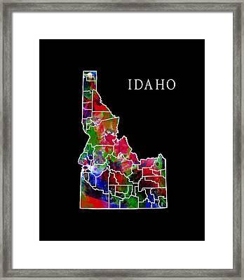 Idaho State Framed Print