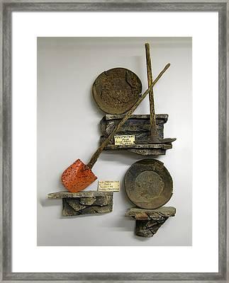 Idaho Territory Gold Miner's Tools Framed Print by Daniel Hagerman