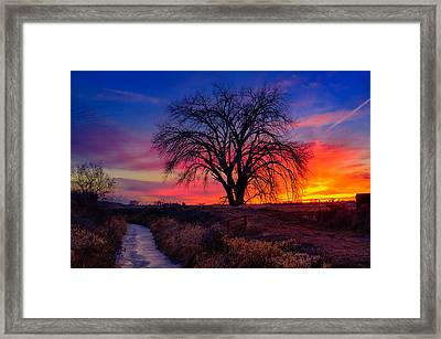 Framed Print featuring the photograph Idaho Winter Sunset by Greg Norrell
