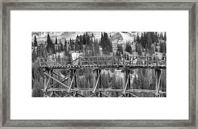 Idarado Mine Trestle Framed Print by Dan Sproul