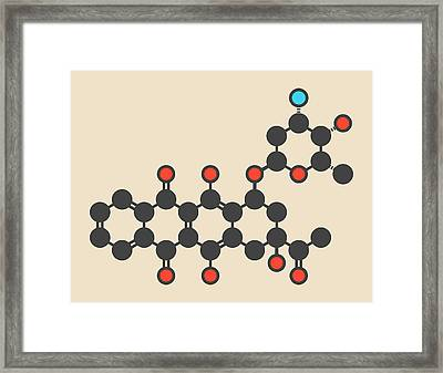 Idarubicin Cancer Drug Molecule Framed Print by Molekuul