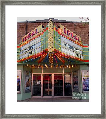 Ideal Theater In Clare Michigan Framed Print by Terri Gostola
