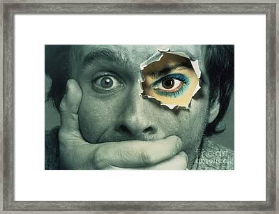 Identity Crisis Framed Print by John Raffo