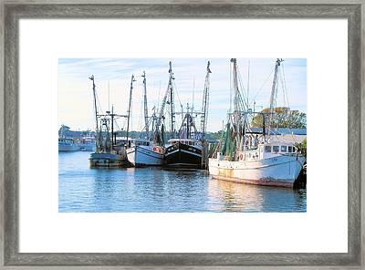 Idle Fleet Framed Print