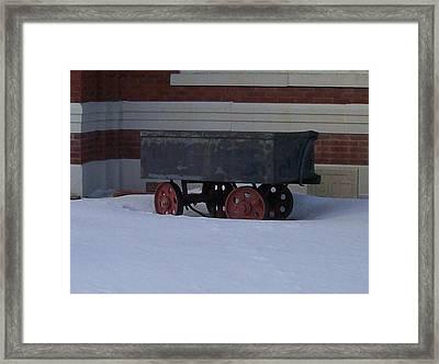 Framed Print featuring the photograph Idle Wagon by Jonathon Hansen