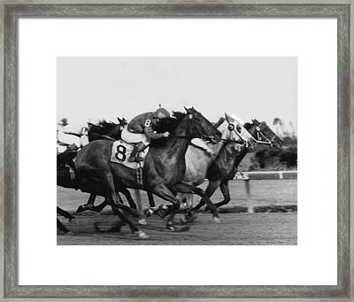 Idler Horse Racing Vintage Framed Print by Retro Images Archive