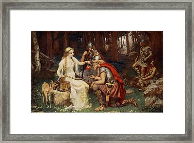 Idun And The Apples, Illustration Framed Print