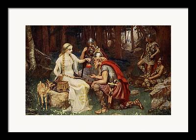 Warrior Goddess Drawings Framed Prints