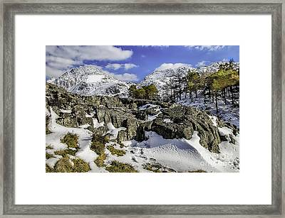 Idwal At Winter Framed Print by Darren Wilkes