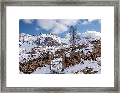 Idwal Gate Framed Print by Adrian Evans