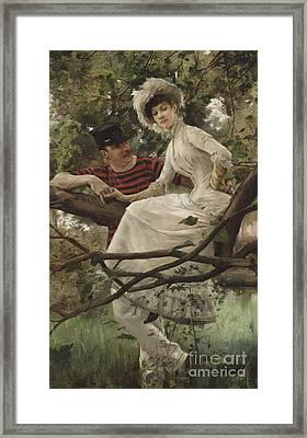 Idyll Framed Print by Carl Larsson