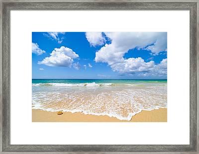 Idyllic Summer Beach Algarve Portugal Framed Print by Amanda Elwell