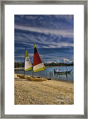 Idyllic Thai Beach Scene Framed Print by David Smith
