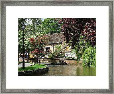 Idyllic Village Scene Framed Print