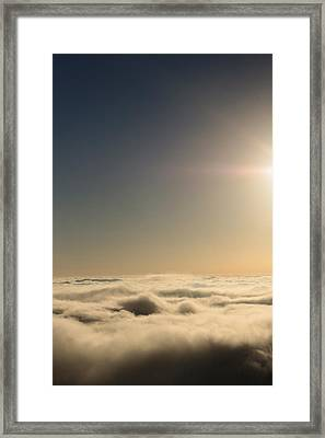 Idyllwild Clouds Framed Print by Denice Breaux