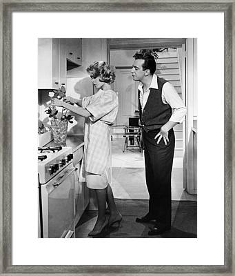 If A Man Answers  Framed Print by Silver Screen