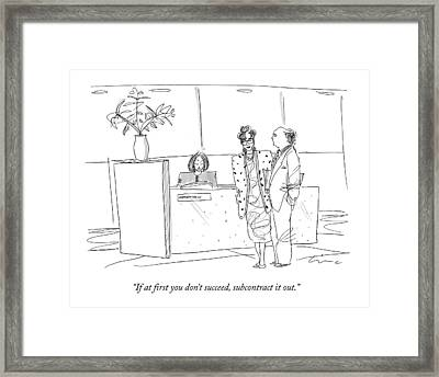 If At First You Don't Succeed Framed Print by Richard Cline