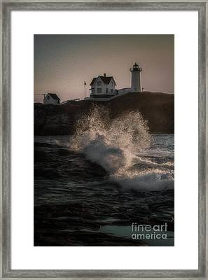 If Barnabus Collins Lived At The Nubble Framed Print